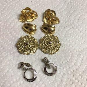 Bundle of Four Clip earrings